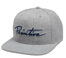 Primitive Nuevo Script Snapback, Heather Grey Navy