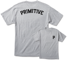 Primitive Slab Arch Tee, Athletic Heather