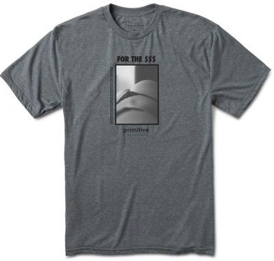Primitive Strictly Ad Light Weight Tee, Gunmetal Heather