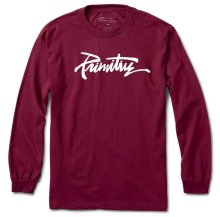 Primitive Thrashed LS Tee, Burgundy