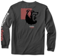 Primitive X Grizzly Bearhaus LS Tee, Charcoal