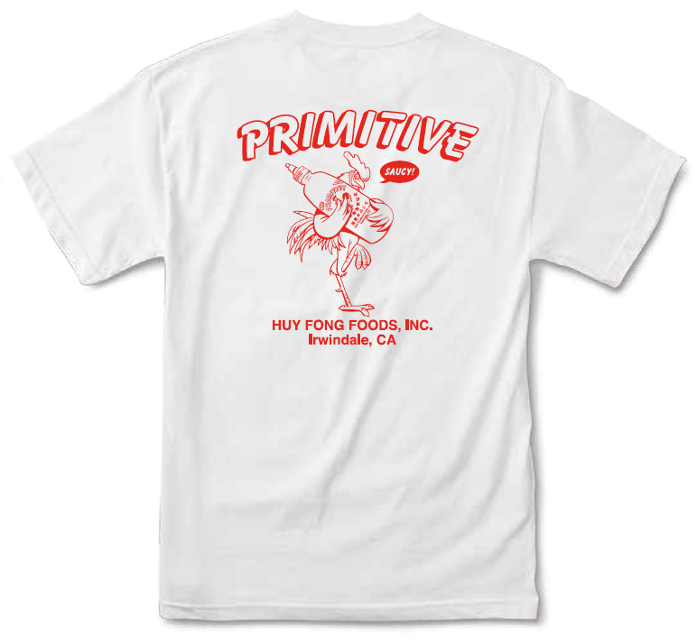 90b29c45 Primitive X Huy Fong Foods Saucy Tee White | SK8 Clothing Canada