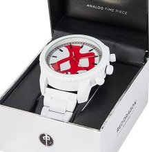 RDS Armstrong Watch, White Red