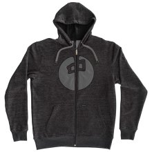 RDS Circle Point Zip Hoodie, Black-Heather Grey
