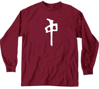 RDS Chung LS Tee, Maroon White