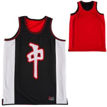 RDS Chung Mesh Tank, Black Red White