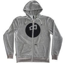RDS Circle Point Zip Hoodie, Speckle Grey Black