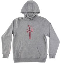 RDS Grande Hoodie, Heather Grey Red