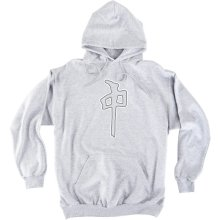 RDS Grande Hoodie, Heather Grey White