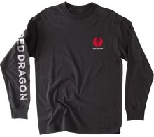RDS Heart Point LS Tee, Black Red White