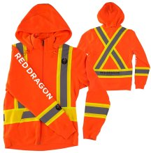RDS High Clarity Zip Hoodie, Fluorescent Orange