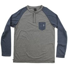 RDS Hops Henley, Heather Grey/Navy