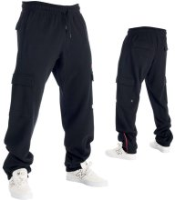 RDS No 737 Cargo Sweatpants, Black Red