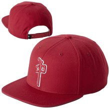 RDS OG Puffy Snapback Hat, Cardinal White