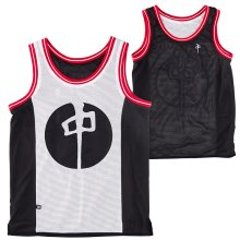RDS Reversible Basketball Jersey, Black White Red