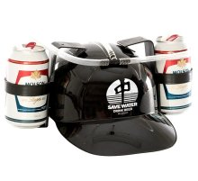 RDS Save Water Drink Beer Helmet, Black White