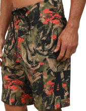 Research & Destroy Boardshorts, Fir Green Camo