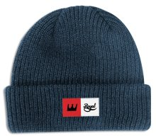 Royal Crown Patch Beanie, Navy