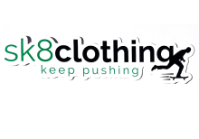 SK8 Clothing Keep Pushing Sticker, White