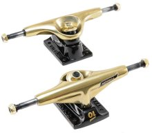 Tensor Tens Low Mini Flick Trucks Mirror Gold Black (Set of 2)