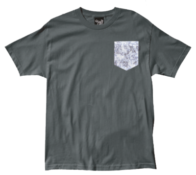 The Quiet Life Crystals Pocket Tee, Charcoal
