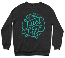The Quiet Life Day Logo Crew, Black
