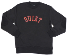 The Quiet Life Paisley Applique Crew, Black