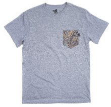 The Quiet Life Paisley Pocket Tee, Heather