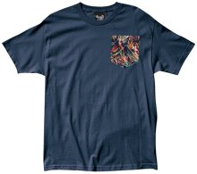 The Quiet Life Stoke Pocket Tee, Navy