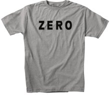 Zero Army Tee, Heather Grey Black