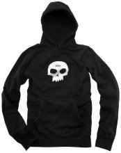 Zero Single Skull Hoodie, Black