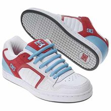 Dc Men's Park Skate Shoes, White/Blue