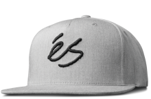 eS Script Snapback, Grey Heather
