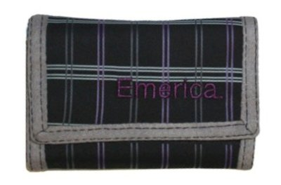 Emerica Fortune Wallet, Black/Plaid