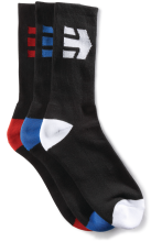 etnies Direct 3 Pack Socks, Black