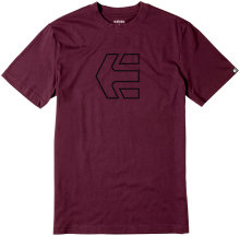 etnies Icon Outline Tee, Burgundy