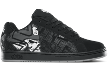 etnies Metal Mulisha Fader Shoes, Black Skulls