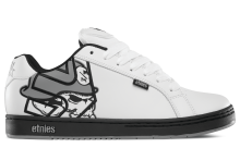 etnies Metal Mulisha Fader Shoes, White Black Grey