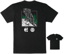 etnies X Element Two Headed Wolf T-Shirt, Black