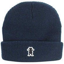 Grizzly Bear Patch Beanie, Navy
