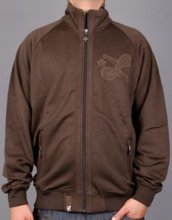 LRG Core Collection Men's Track Jacket, Dark Chocolate